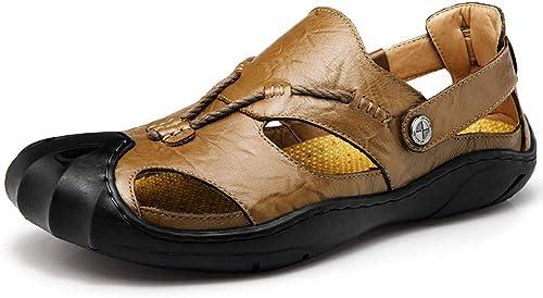 Tongs Homme Chaussures De Plages Chaussures Summer Baotou Sport Sandales Occasionnelles Chaussures De Plage pour Hommes en Cuir Chaussures pour Hommes
