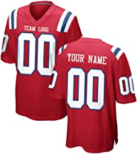 Custom Men's Football Jerseys Personalized New England Embroidered Your Own Name Number Shirt