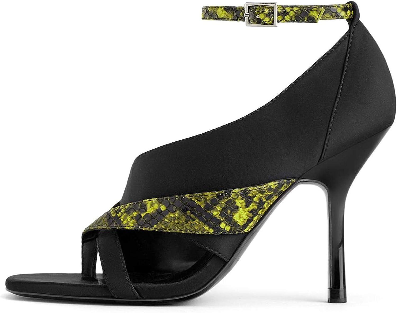 Zara Damen Sandalette mit animalprint 3376 001    Ausgezeichnete Leistung