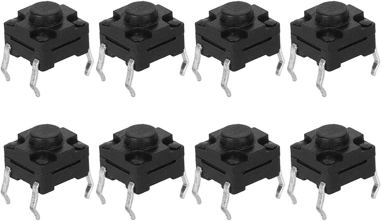 DAUERHAFT Mini Interruptor Duradero 100 Piezas Conveniente 6 x 6 x 5 mm para Teclado LCD y Otros Productos electrónicos Parche táctil de luz electrónica