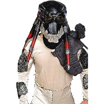 Horror-Shop Máscara De Depredador Negro DLX: Amazon.es: Juguetes y ...