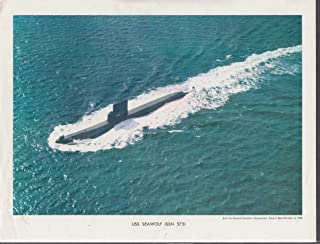 USS Seawolf SSN 575 Nuclear Submarine Electric Boat print 1960