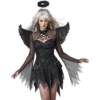 Disfraz Ángel Caído negro para mujer: Amazon.es: Juguetes y juegos