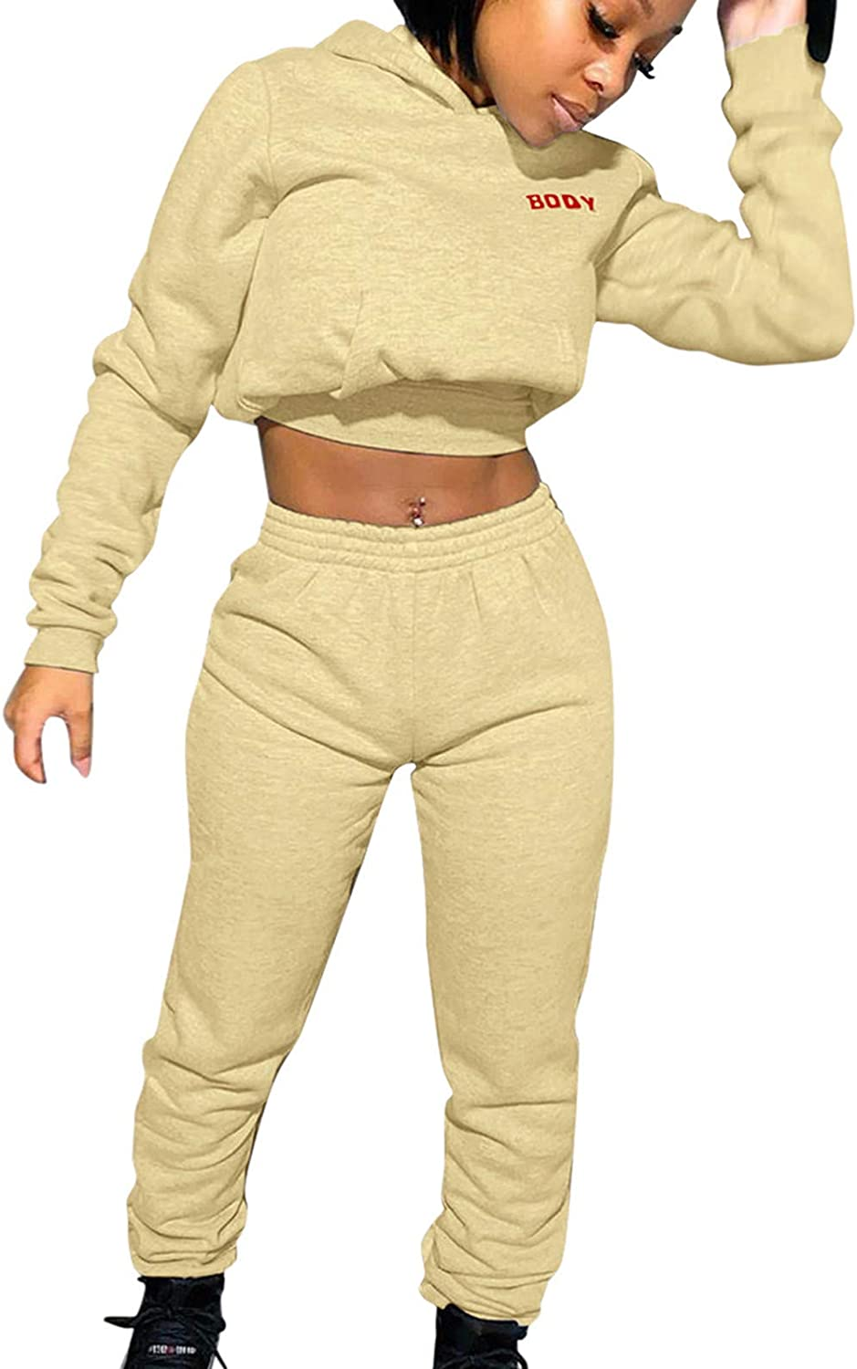Gwewei4df Women Boston Mall Jogger Outfit Matching Sleeve Long Suits favorite H Sweat