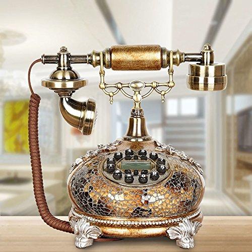 Fournir Un téléphone à la Maison, Téléphone Ménage Rétro Landline Salon Décoration Téléphone Fixe Téléphone Résine + Alliage 25 * 25 * 17 cm Ligne Fixe européenne, (Color : 2#)