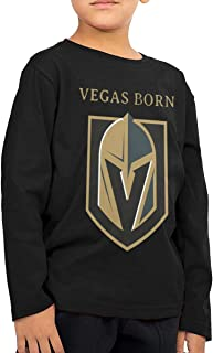 2-6 Year Old Children's Long Sleeve T-Shirt Vegas Born Golden Knights Classic Cool Creation Black