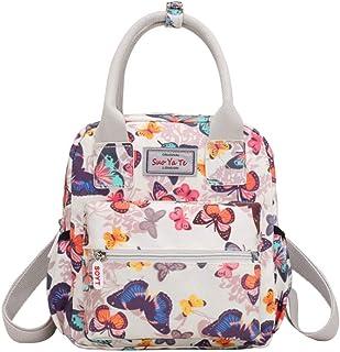 Trendy generous super cute Lightweight Nylon Backpack Waterproof Multi-pocket Shoulder Bag Girl's Bag Wallet,Size:24 * 9 *...