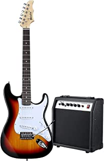 """Melodic Full-Size 39"""" Electric Guitar with Bonus Amplifier"""