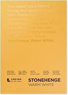 Legion Stonehenge Pad (L21-STP250WW57), 15 Sheets, 5 By 7 Inches, Warm White Paper