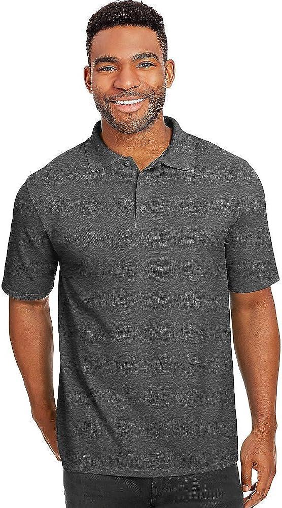 Hanes X-Temp Men's Pique Quality inspection Shirt_Charcoal Time sale Heather_XL Polo
