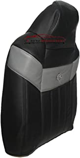 us auto upholstery 2004-2007 Ford F250 Harley Davidson Driver Lean Back Leather Seat Cover Black