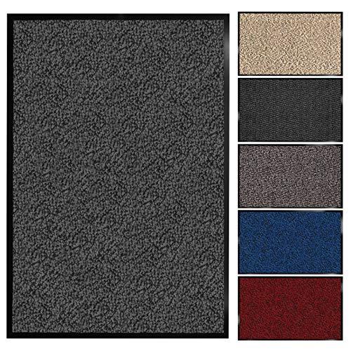 Floordirekt Schmutzfangmatte Sky | Fussmatte in 11 Größen & viele Farben | Türmatte für innen & außen (135 x 200 cm, Anthrazit)