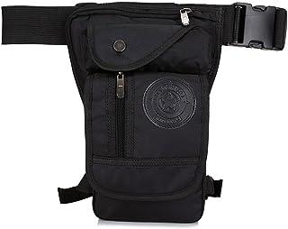 Hebetag Nylon Drop Leg Bag Hiking Waist Pack for Men Women Tactical Motorcycle Bike Cycling Riding Travel Outdoor Sports F...