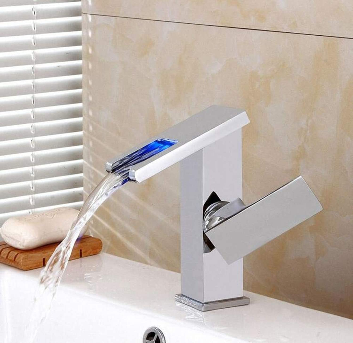 Mixer Basin Taps Sink Mixer Tap Sink Modern Led Cold Water Single Hole Bathroom Faucet Basin Taps