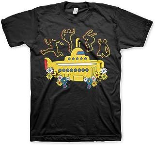 Oficialmente Licenciado Amarillo Submarine Camiseta para Hombre (Negro)
