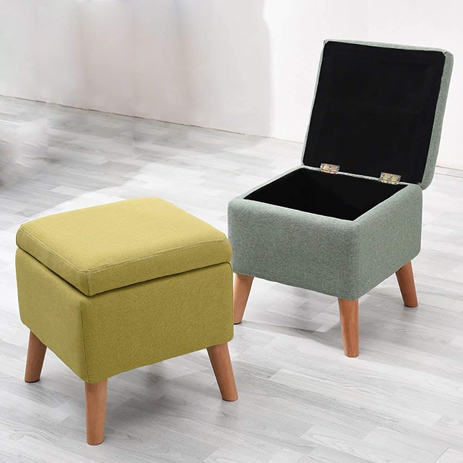 JZX Storage shoes Bench, Living Room Fabric Sofa Footstool