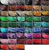 INWARIA - Cadena de piel de 3 mm de diámetro, 40/45/50/55/60/65/70 cm, cierre de acero inoxidable, HH-25, 60 cm, 3 mm, color verde menta