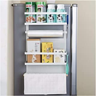 Dxbqm Organisateur de Rangement Organisateur de Cuisine réfrigérateur étagère latérale étagère latérale Multifonctionnel m...