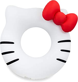 #GETFLOATY Inflatable Hello Kitty Tube Float, Blow Up Donut Swim Ring with Bow headrest, Pool Party Lounge Raft Toy Kids Adults