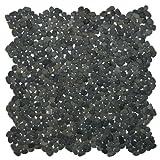 Mini Charcoal Black Pebble Tile Sample