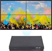 LINK-MI TV04 2x2 Video Wall Controller USB+HDMI+VGA+AV TV HDMI with Fully-Digital Processing Channel Inside 180 Degree Rotate