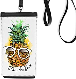DIYthinkerSunglasses Pineapple Tropical Fruit Phone Wallet Purse Hanging Mobile Pouch Black Pocket
