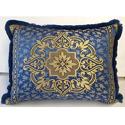 Casa Moro Marokkanisches Deko Kissen-Bezug Hassena Blau 70 x 50 cm   Orientalische Kissenhülle für Zierkissen Vintage Couchkissen Sofakissen Motivkissen   SO1309