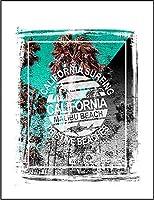 【FOX REPUBLIC】【カリフォルニア マリブビーチ ロゴ】 白マット紙(フレーム無し)A4サイズ