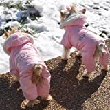 Dog Coat - 'Ruffin' It' Snowsuit - Pink - Small (S)