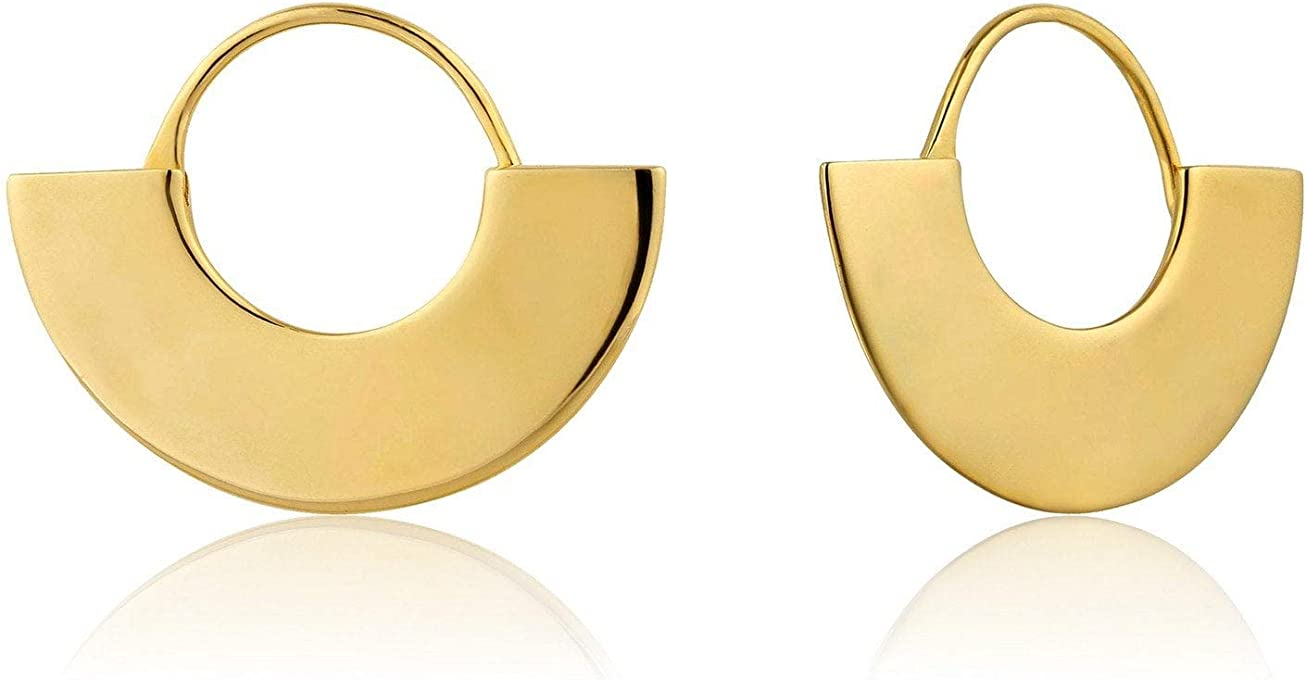 Geometry Fan Hoop Earrings