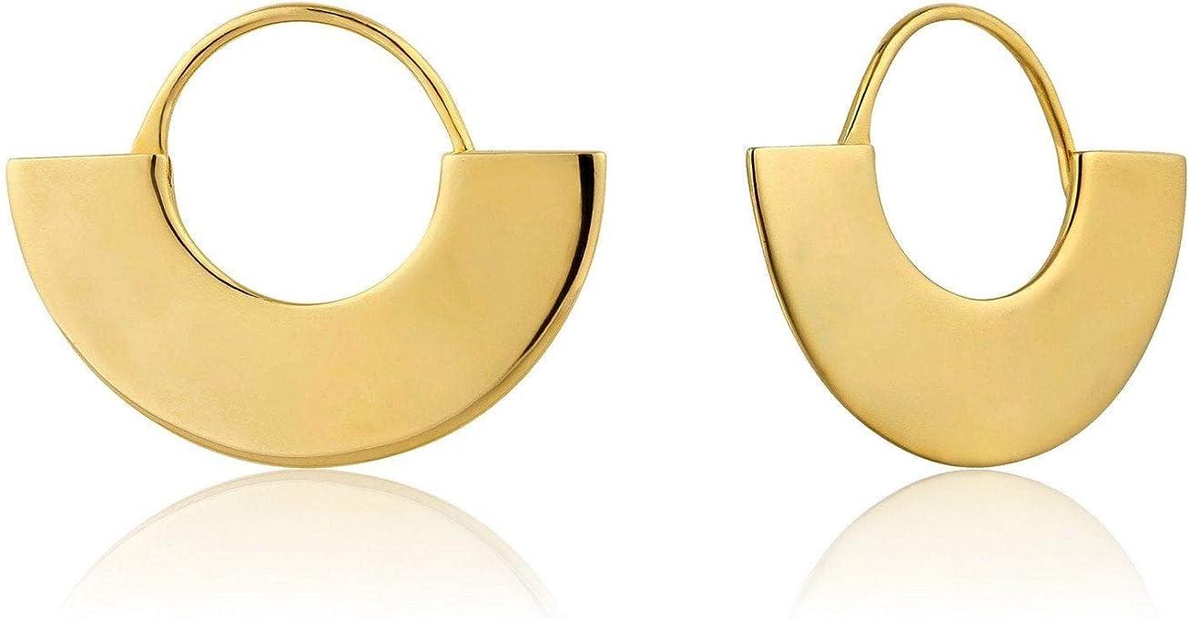 Geometry Fan Hoop Earrings