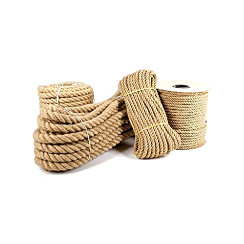 6mm Pure Jute Rope Twisted Cord braided Garden Boating Deckingh Home (10 meter)