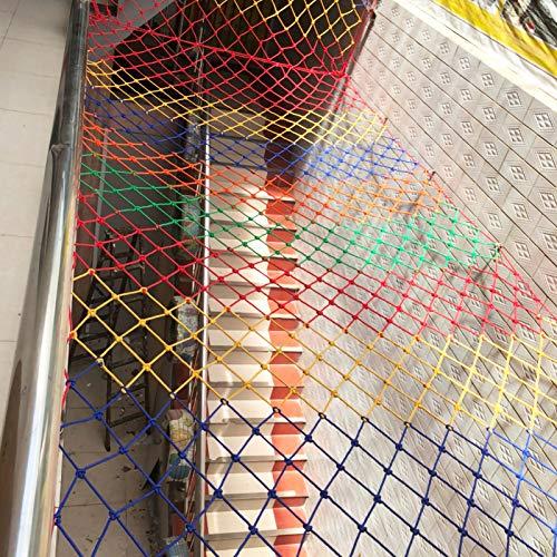 QDTD Red de cuerda para niños, la cuerda es de 6 mm de grosor y la malla es de 6 cm de malla de seguridad para vallas, para interiores y exteriores, red de seguridad para gatos (tamaño: 2,5 x 4 m)
