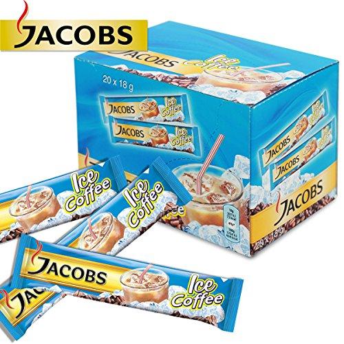 60 x Jacobs 3in1 Eis Kaffee Löslicher Kaffee Instant Sachets Portionen Frisch
