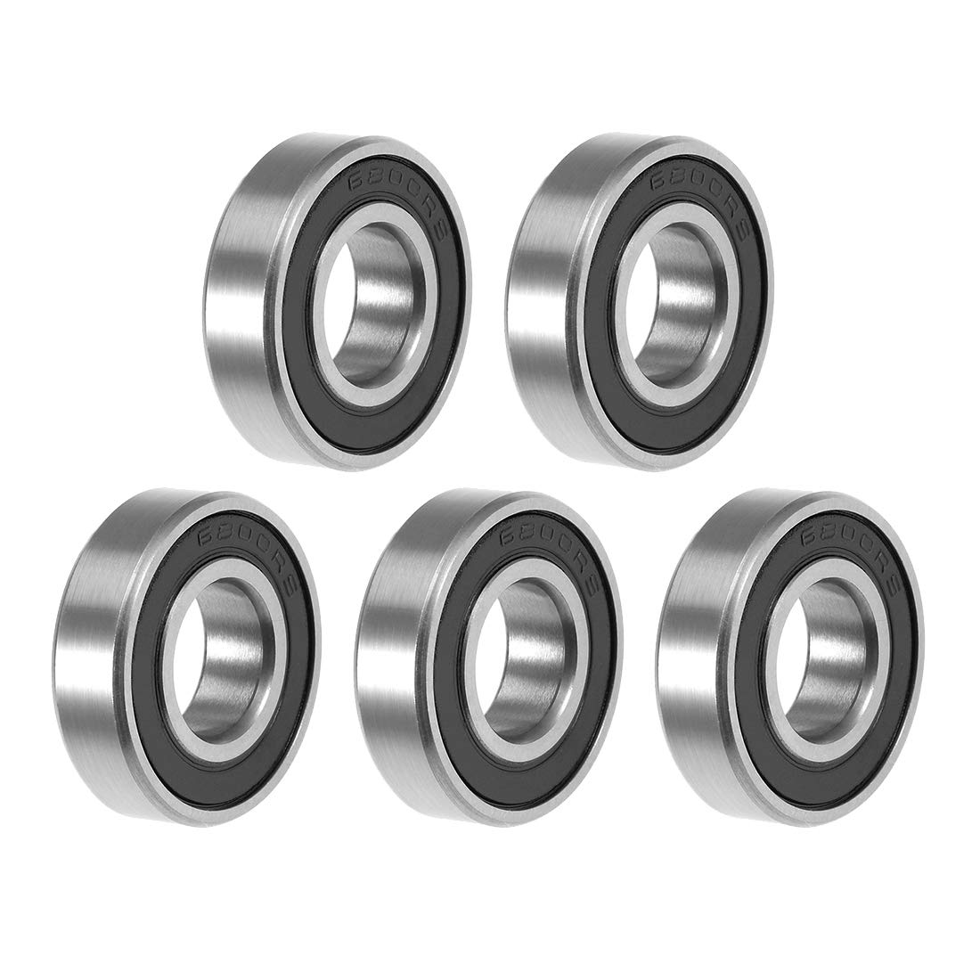 uxcell 2021 spring and summer new 6800-2RS Sales Deep Groove Ball Bearing Sealed Double 10x19x5mm