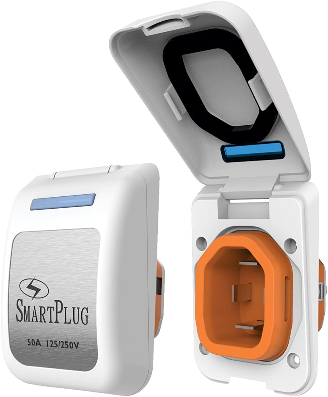 SmartPlug 50 Amp Inlet White