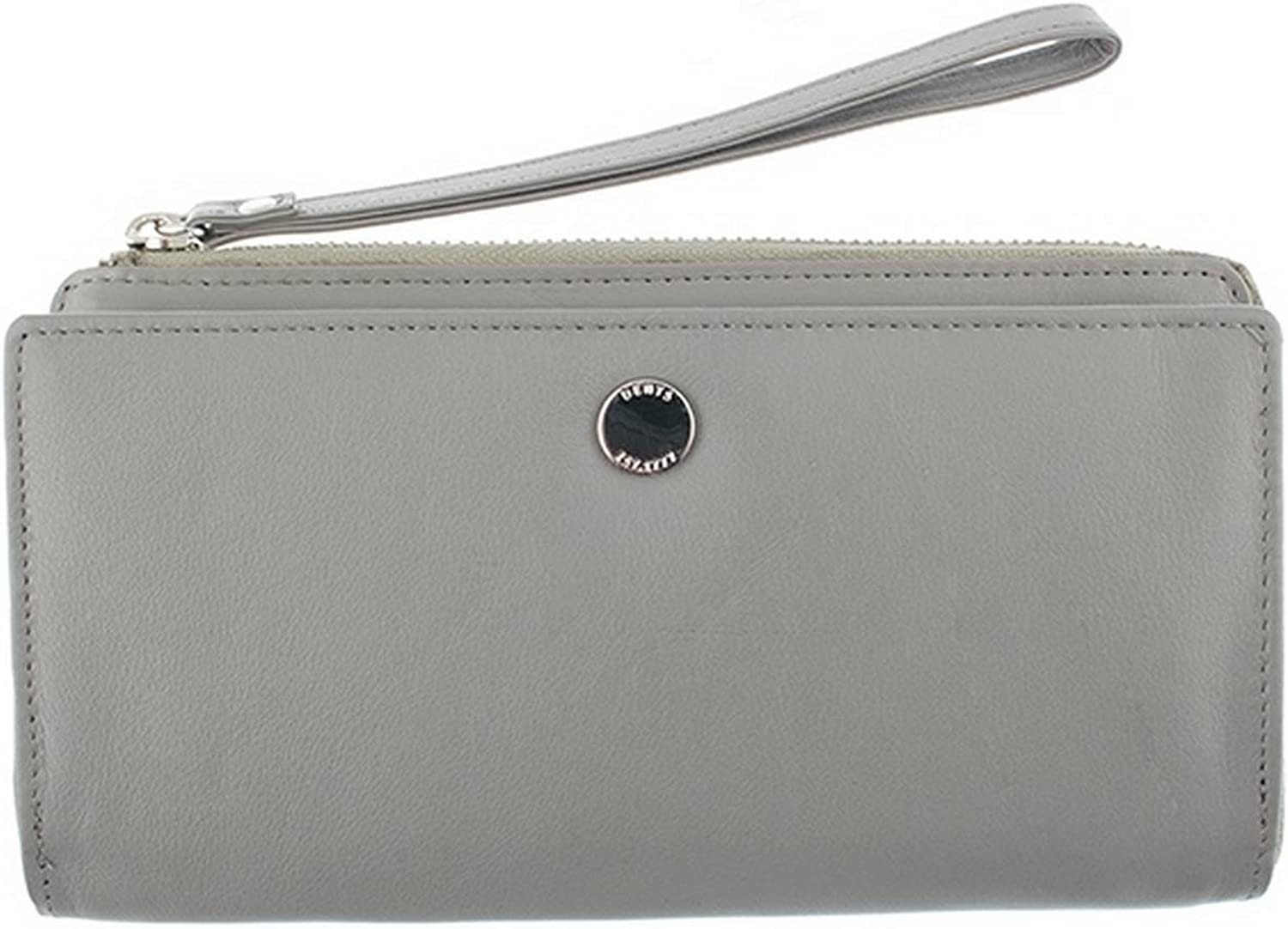 Dents Womens Smooth Wristlet Purse  Dove Grey