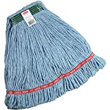 Rubbermaid Commercial Products Wet Mop, String, Loop, 1' Band - Medium, Blue