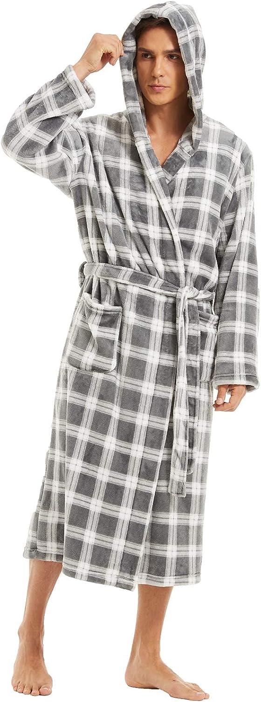 niber Men Robes Soft wholesale Full Length Lightweight Robe,Plu Tampa Mall