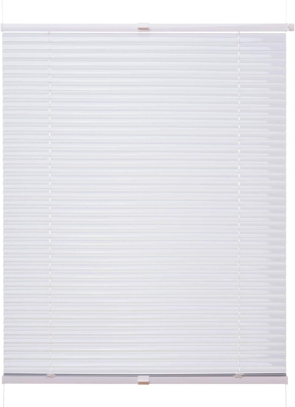 Ventanara Jalousie Aluminium ohne Bohren Wei/ß inklusive Montagematerial 50 x 130 cm