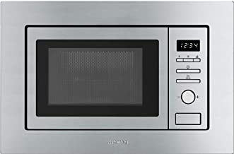 Smeg 20 litre Built-in Microwave with Grill complete with Frame Stainless Steel FMI020X