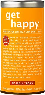 Sponsored Ad - The Republic of Tea Be Well Red Rooibos Tea - Get Happy - No. 13 Herbal Tea, Peaches and Lemon Balm, Uplift...
