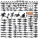 MOEGEN Conjunto de Armadura de Arma de 96 Piezas para el Equipo de SWAT Compatible con Lego Minifigures Soldiers Soldiers