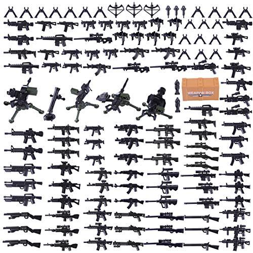 SEREIN Juego de Militar Armas Figuras Accesorios Militares para Soldados de Casco Policía SWAT, Compatible con Lego Minifiguras