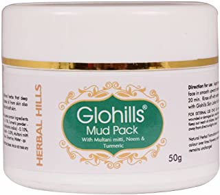 Herbalhills Glohills Mud Pack 50gms Skin cleanisng Personal care ultimate skin care solution for all skin types