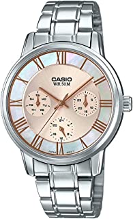 Casio Casual Watch For Women Analog stainless Steel - LTP-E315D-9AVDF