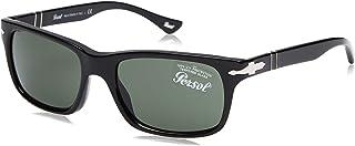بيرسول نظارات شمسية نصف إطار للجنسين، بني
