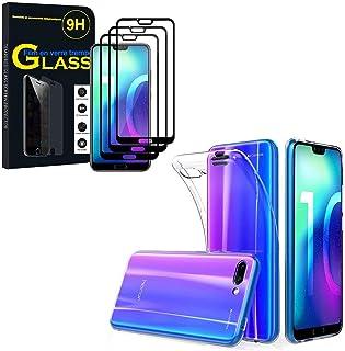 annaPrime Skyddshölje gel ultraslim och passform exakt för Huawei Honor 10/Honor 10 Gt 5,84 tum + härdat glasfilm – fodral...