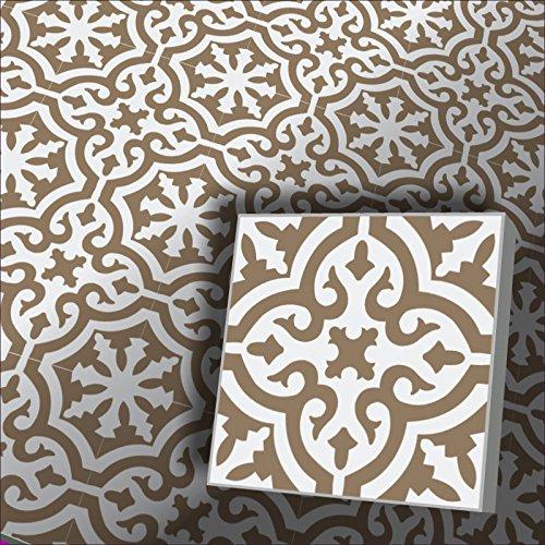 Zementfliesen Iraquia weiß graubeige (Bestelleinheit: karton mit 10 Fliesen)