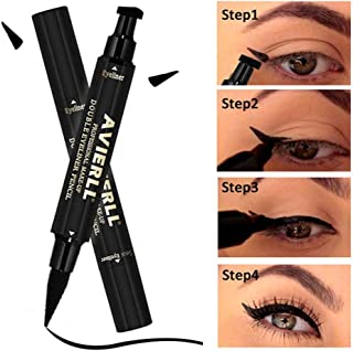 Leegoal Eyeliner Stamp Wingliner By Vogue Effects Black, Waterproof,Double-Sided Pens Stamp Eyeliner Tool, Long-Lasting No Dipping Required 2 in 1 Seal Stamp Tool for Wing or Cat Eye (1 pack)